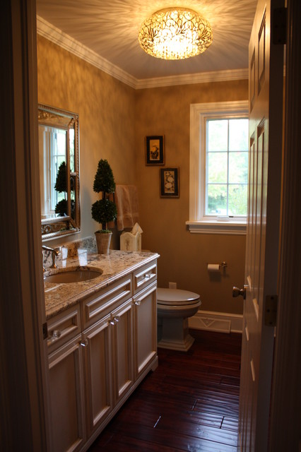 Powder Room Makeover Traditional Bathroom Cleveland By Architectural Justice