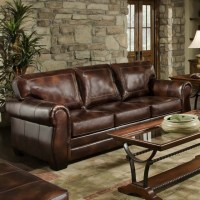 Simmons Encore Vintage Leather Sofa - Traditional - Sofas ...