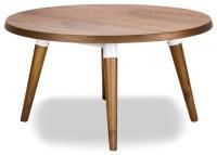 Copine Walnut Round Coffee Table - Modern - Coffee Tables ...