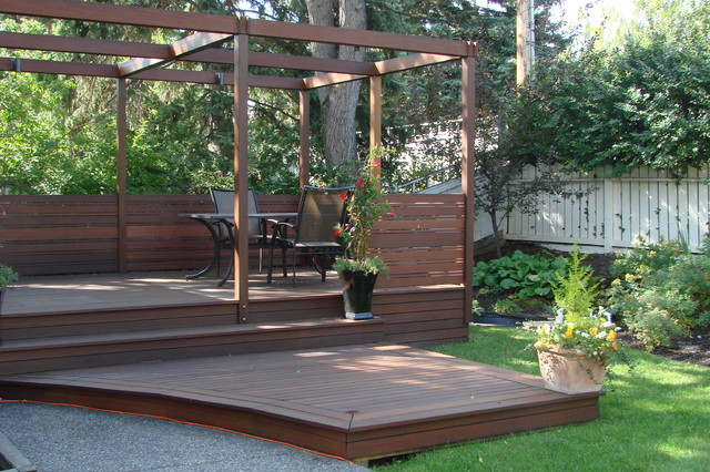 Photos Exotic Decking Stairs Privacy Screen And Post And Beam Frame Traditional Deck Calgary