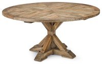Ducasse French Style Mango Wood Parquet Round Dining Table ...