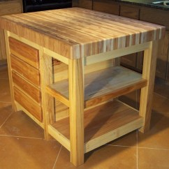Catskill Craftsmen Kitchen Island Counter Rack Pecan Butcher Block Center - Traditional ...