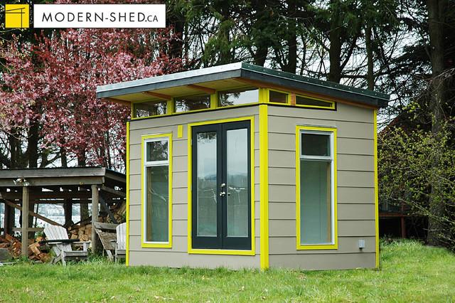 8x12 Coastal ModernShed  Modern  Garage And Shed