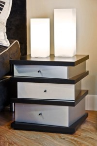 Pagoda Night Table - Contemporary - Nightstands And ...