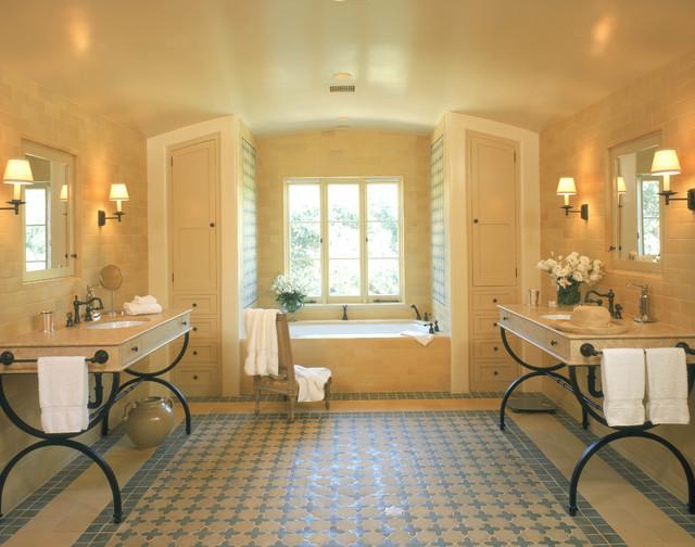 Spanish Style Master Bathroom
