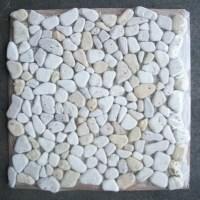 Travertine Mix Giallo River Rocks Pebble Stone Mosaic Tile ...