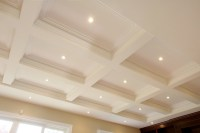 Coffered ceiling, plaster - Traditional - Family Room ...
