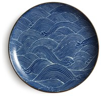 "Aranami Blue 10"" Plate - Asian - Dinner Plates - by Miya ..."