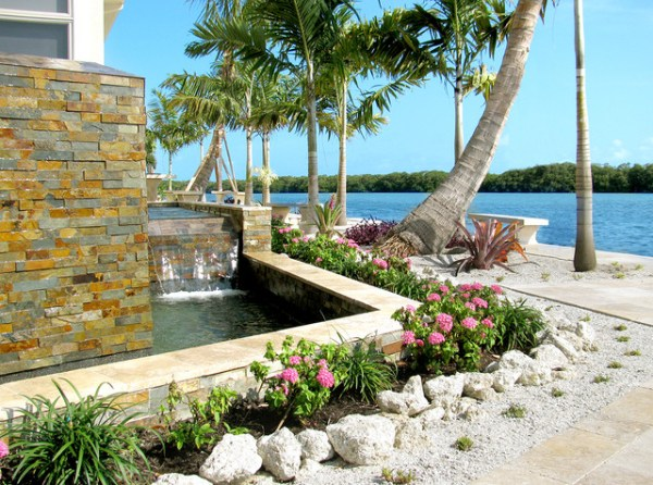 waterfront landscaping - tropical