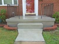 Poured Concrete Porch