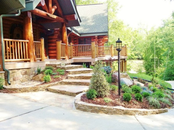 log home curb appeal