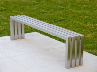 Linear Stainless Steel Bench | Sarabi Studio Austin, TX ...