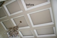 Coffered ceiling(before&after)