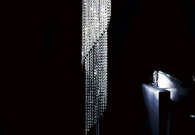 Contemporary Crystal Floor Lamp