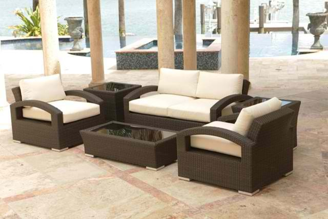Lago 6-Piece Loveseat Set By Source Outdoor