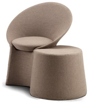 Flou Remy Chair and Pouf  Contemporary  Armchairs And