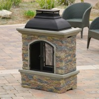 Contemporary Outdoor Patio w/ Outdoor Chiminea Fireplace ...