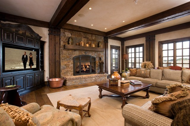 neutral rugs for living room paint colors ideas 2017 mountain house space - traditional ...