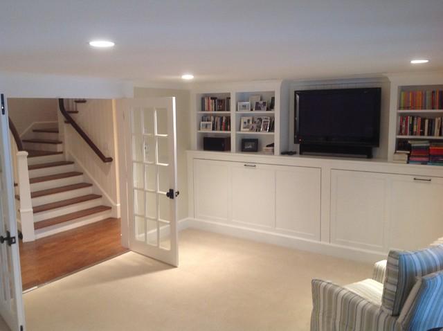 kitchen lights hanging american standard white faucet cape cod basement renovation - transitional ...