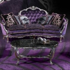 Purple Tufted Sofa Set Apartment Size Sleeper Sofas Tarantp - European Inspired Luxury