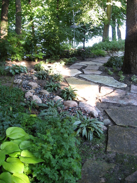 Maple Grove lakefront property  Traditional  Landscape