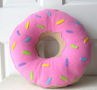 Pink Frosted Doughnut Pillow by Wild Rabbits Burrow ...
