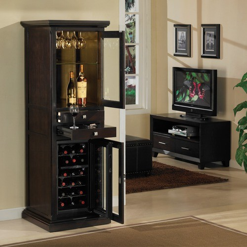 Meridian 18 Bottle Wine Cabinet  Modern  Wine And Bar
