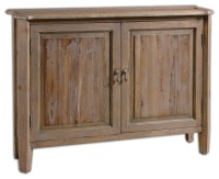 Altair Reclaimed Wood Console Cabinet - Rustic - Accent ...