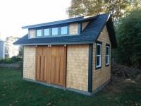 Garden Shed with Sliding Barn Doors - Craftsman - Garage ...
