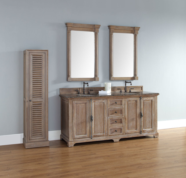 72 Inch Providence Driftwood Grey Double Sink Vanity