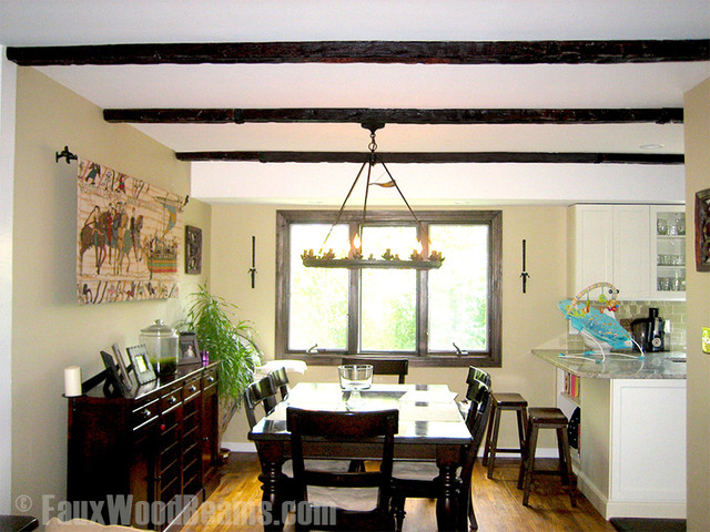 photos faux wood beam ceiling designs traditional dining room new york