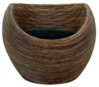 Donut Rattan Lounge Chair - Modern Round WIcker - Modern ...