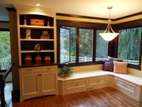 Banquette Seating, Custom Bookcase - Traditional - Living ...