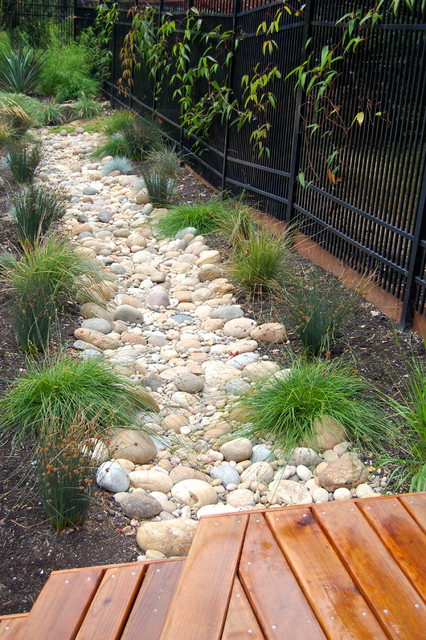 rainwater runoff solution - rustic