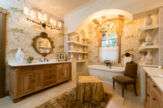 French Provincial Master Bathroom  Mediterranean