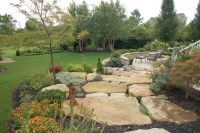 Terraced Garden Patio - Traditional - Landscape - columbus ...