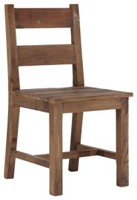Zuo Lincoln Park Distressed Wood Chair - Rustic - Dining ...