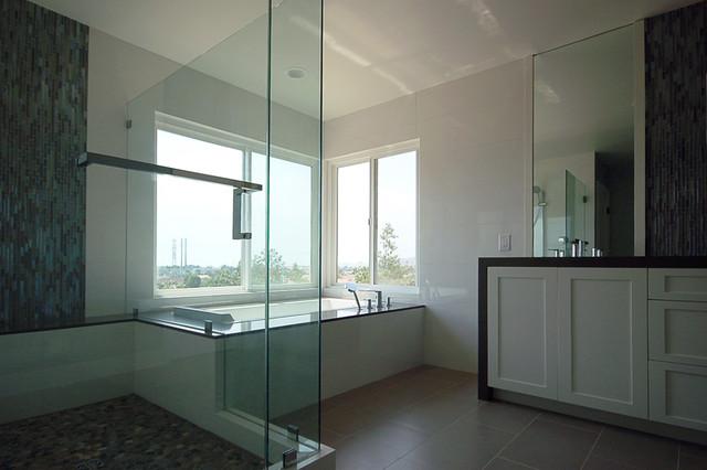 contemporary zen master bath  Beach Style  Bathroom