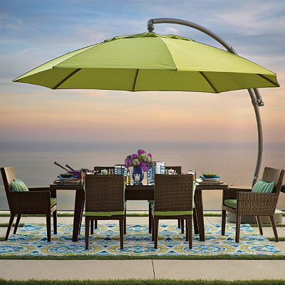 13ft Side Mount Patio Umbrella  Traditional  Outdoor