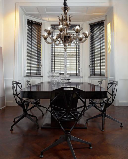 L1430K8 8 light smoky Murano glass modern chandelier