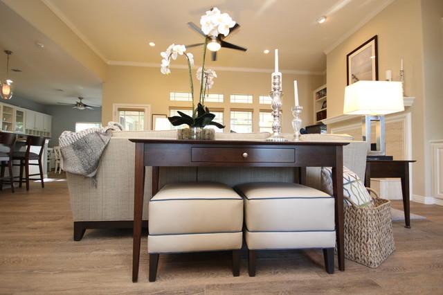 Elegant Casual Contemporary Home  Transitional  Living
