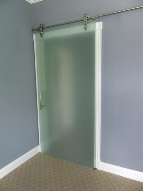 Sliding Barn Doors: Frosted Glass Sliding Barn Doors