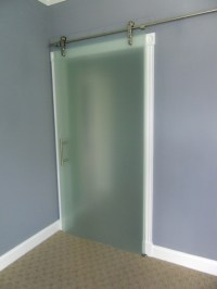 Sliding Barn Doors: Frosted Glass Sliding Barn Doors