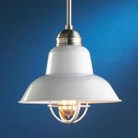 White Enamel Industrial Pendant - Pendant Lighting - by ...