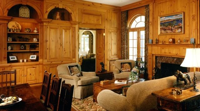 kitchen remodeling birmingham mi floral curtains english manor house - traditional family room chicago ...