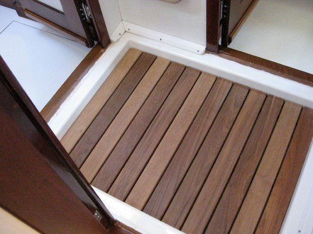 AFTER  Guest Teak Shower Floor