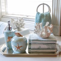 Seafoam Serenity: Coastal Themed Bath Decor Idea