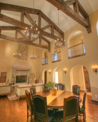 Tuscan Inspiration: Family Room and Dining Area - Rustic ...