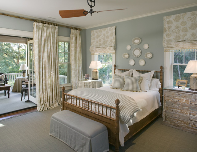 Classic Southern Shingle Style Home on Lagoon  Traditional  Bedroom  charleston  by