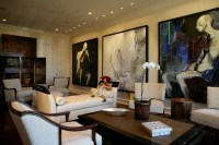 Modern Art Collector's Living Room - Transitional - Living ...